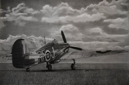 Hurricane by vipmig Summer 1940.2B,4B and 6B pencils
