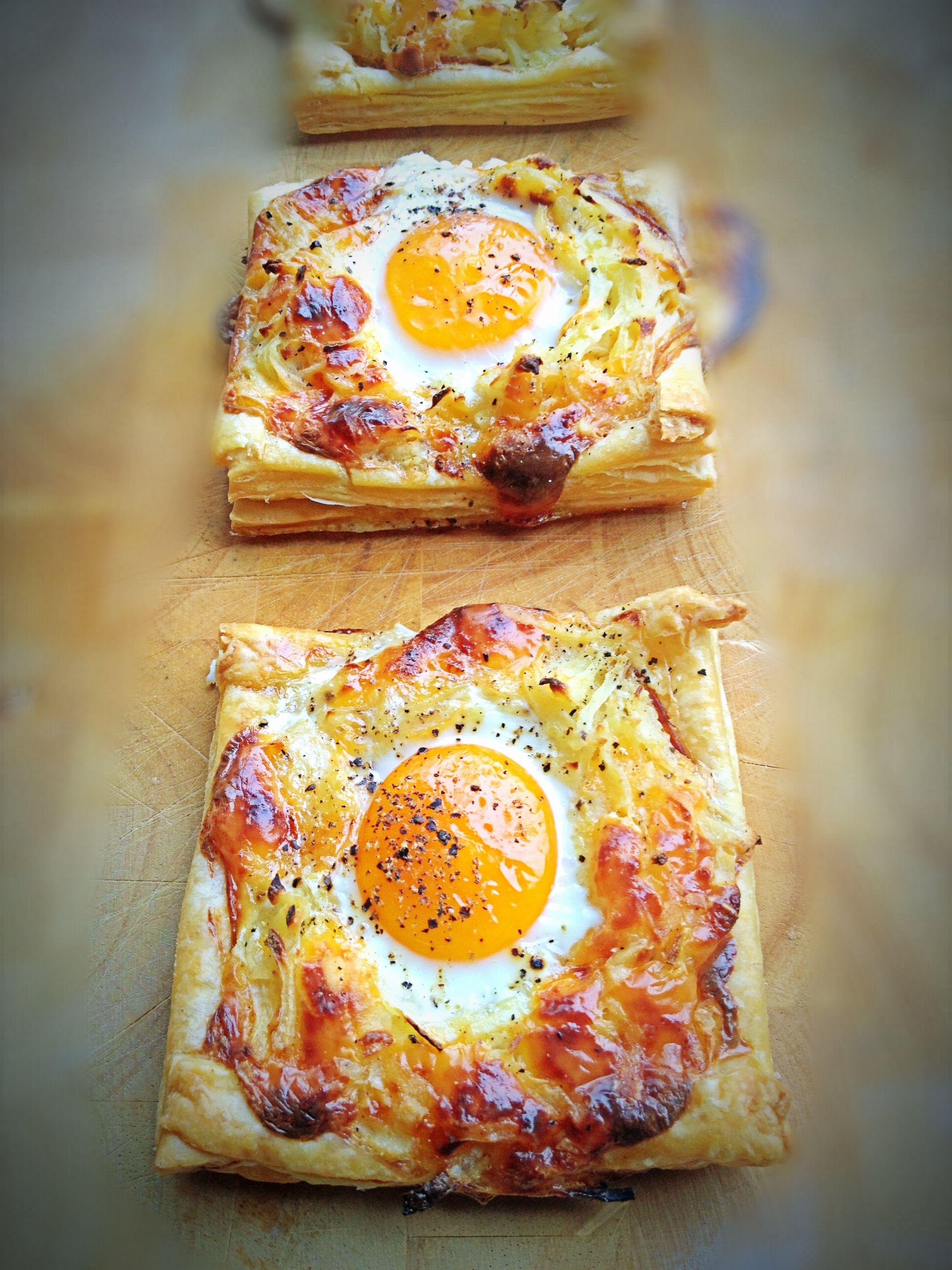 Betere Recept hartig ontbijt met bladerdeeg en ei (met afbeeldingen HW-94
