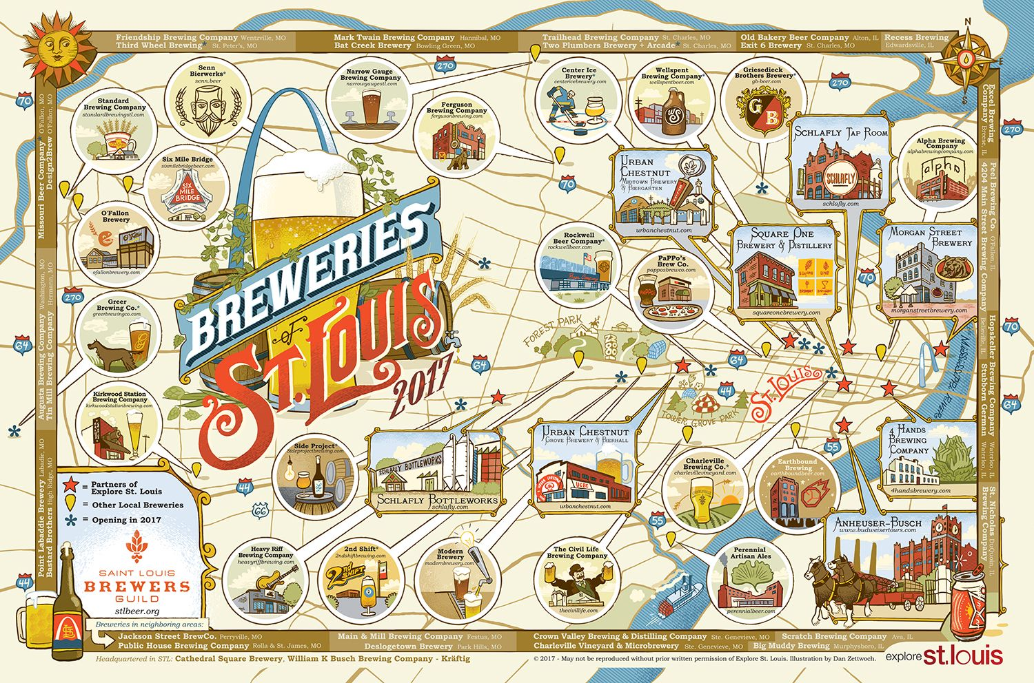 2017 STL Breweries Map Poster | Tipsy Bartender/I\'d Drink That ...