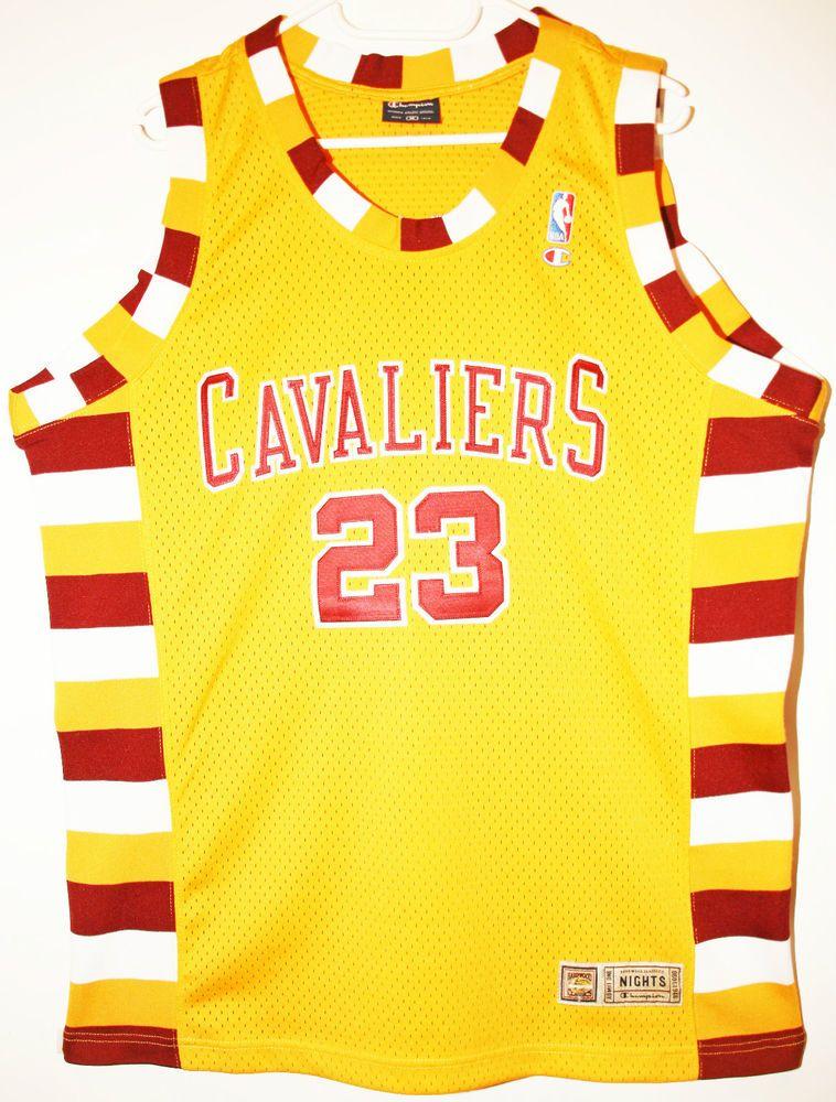899c905f7cf7 Champion NBA Basketball Cleveland Cavaliers  23 LeBron James Trikot Jersey  Size 40 - Größe