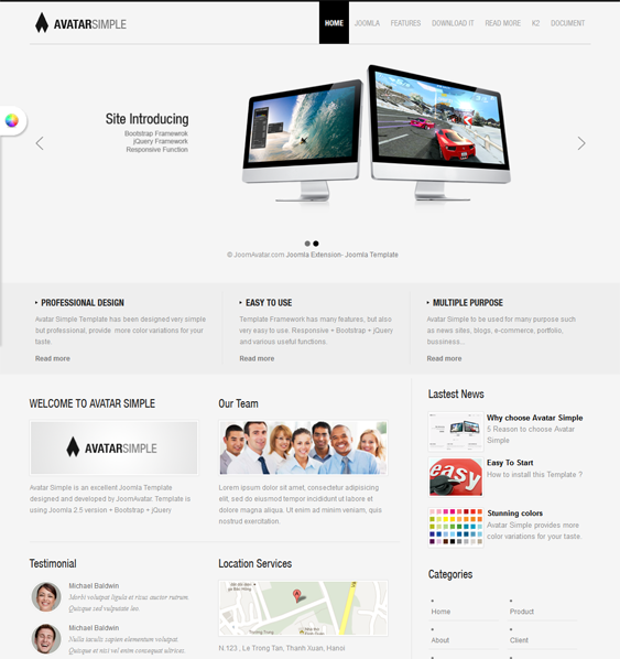 This free Bootstrap Joomla template includes a responsive layout ...