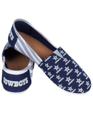 Hot Forever Collectibles Women's Dallas Cowboys Canvas Stripe Shoes  free shipping