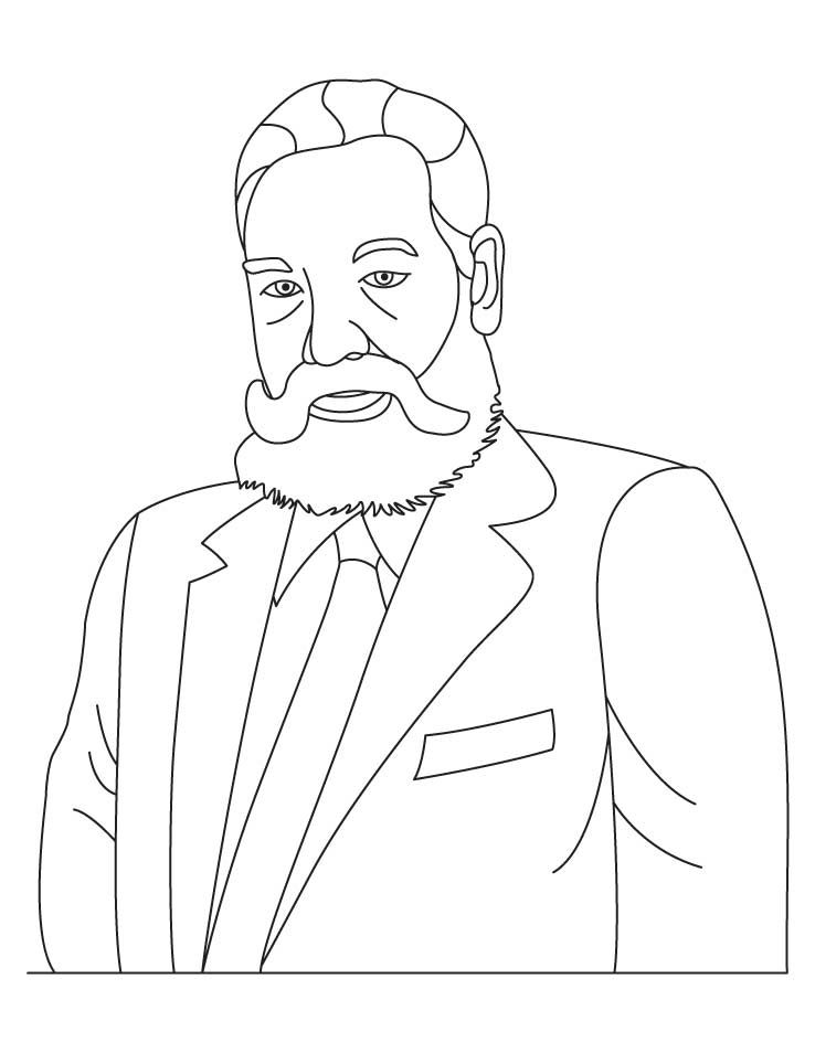 Download Or Print This Amazing Coloring Page Alexander Graham
