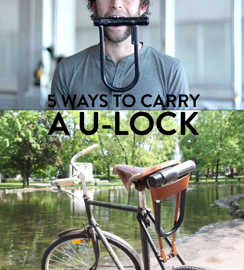 5 Ways To Carry A U Lock Bike Frame Bag Bike Logos Design