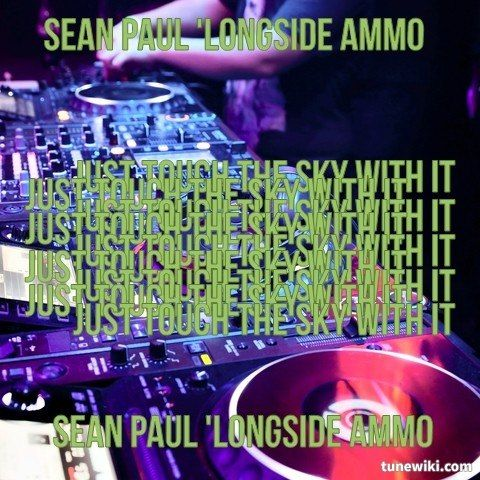 """#LyricArt for """"Touch The Sky - feat. DJ Ammo"""" by Sean Paul"""
