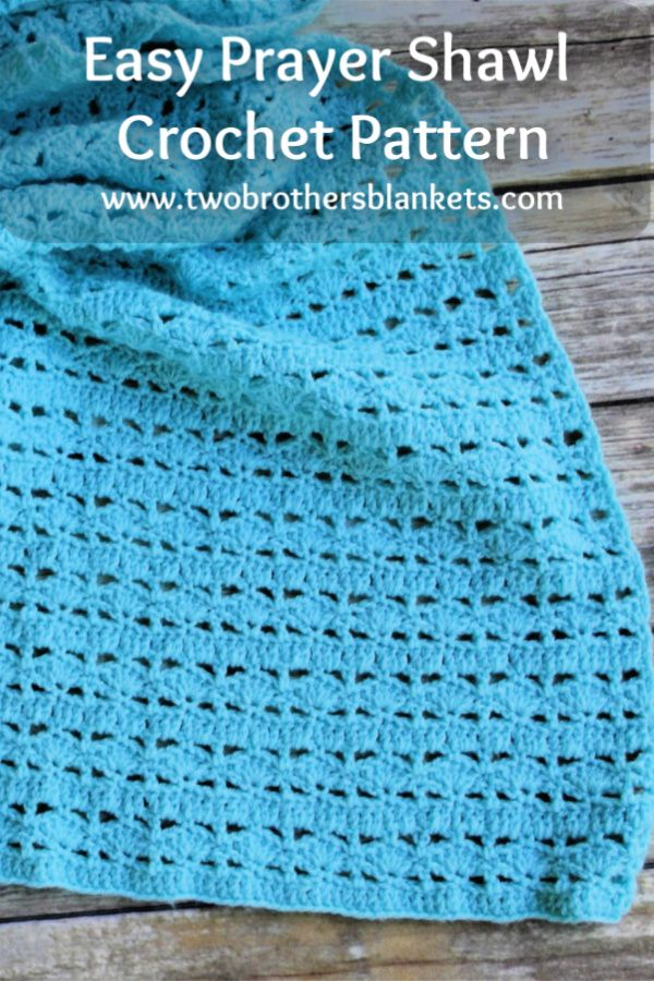 Mighty Waves Prayer Shawl Crochet Pattern - Two Brothers Blankets