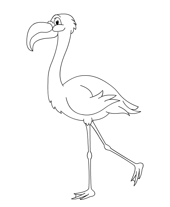 flamingo coloring page - Flamingo Coloring Page