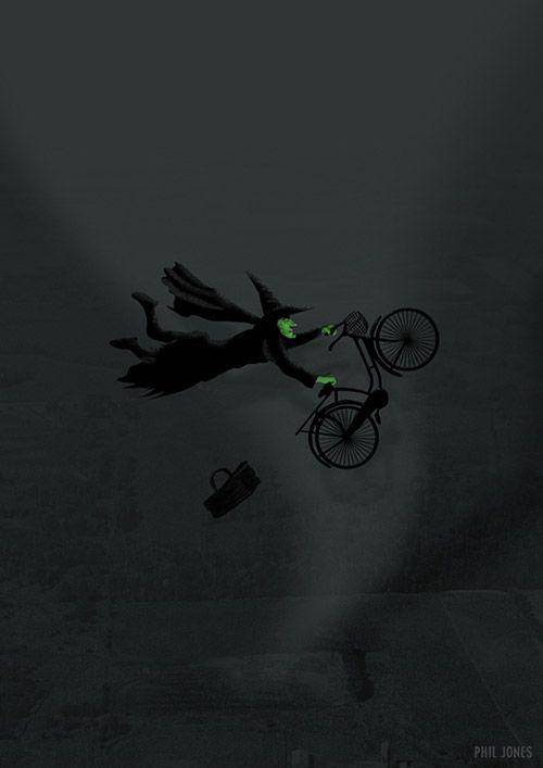 Wicked Bike Trick By Phil Jones Art Pinterest Wicked And