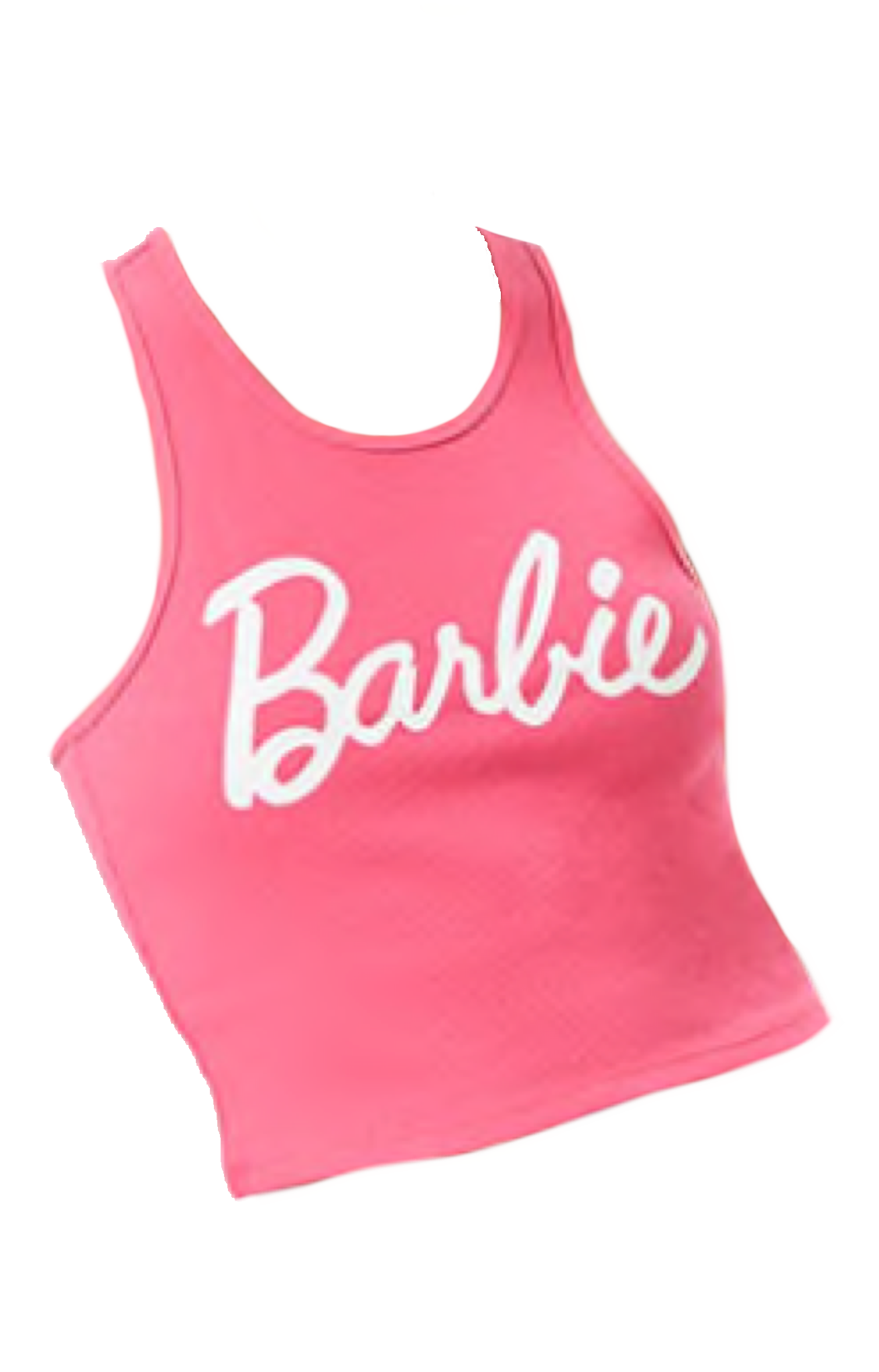 Pink Barbie Tank Top Polyvore Moodboard Filler Aesthetic Shirts Barbie Pink Pink Outfits