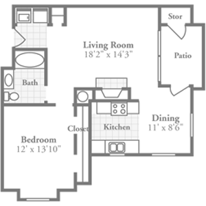 One Bedroom Plans Crowne Polo Luxurious Apartments In Winston Salem North Carolina Near The Wake Fore Farmhouse Flooring Flooring Trends Refinishing Floors