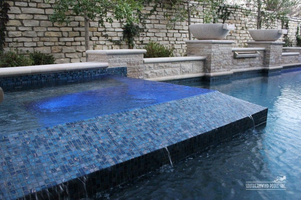 glass tile spa - Swimming Pool and Landscaping Construction ...