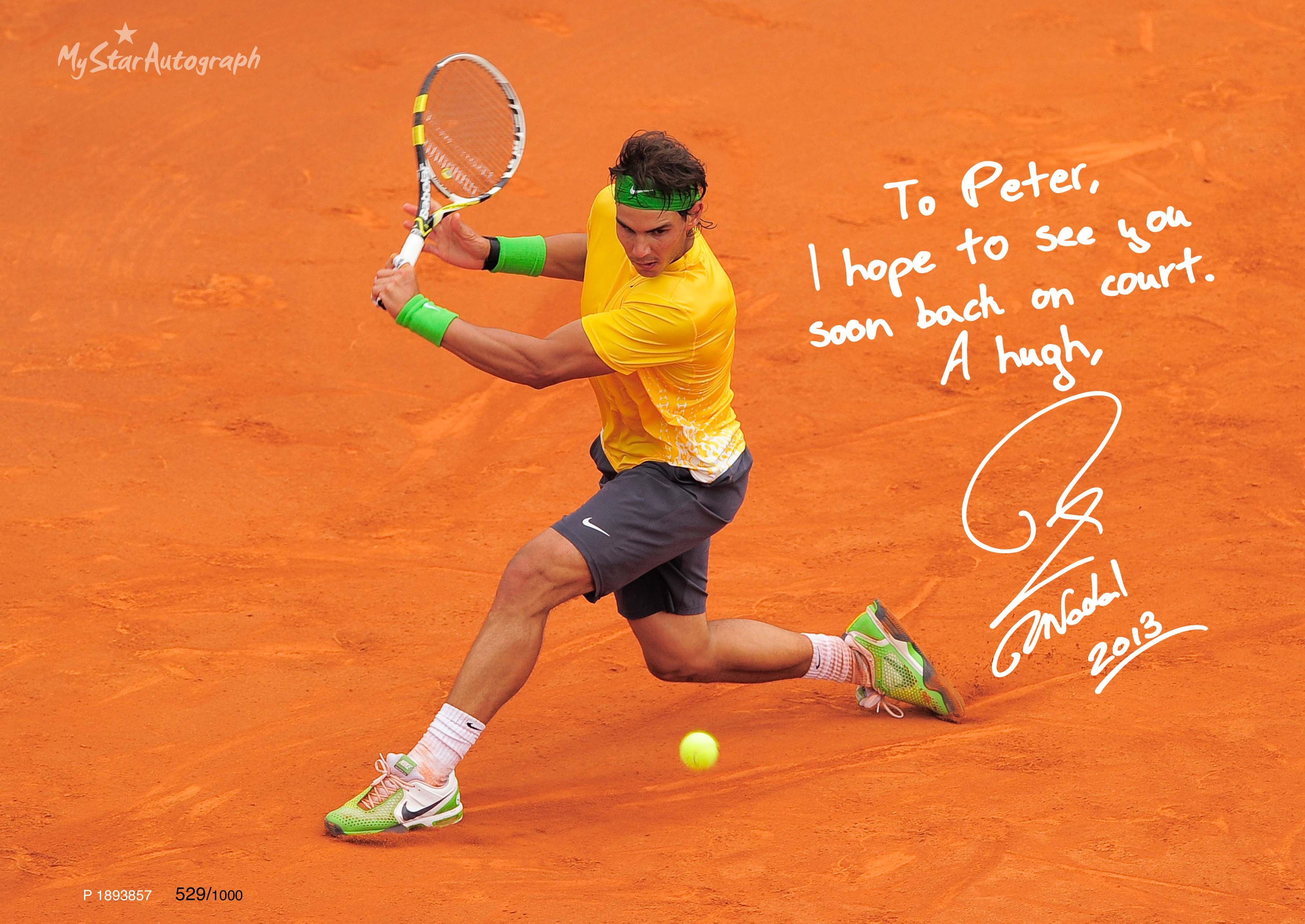 Rafael nadal wallpaper 31 34 male players hd backgrounds - Rafa Nadal Autograph 25 Http Rafanadal Mystarautograph Com Rafael