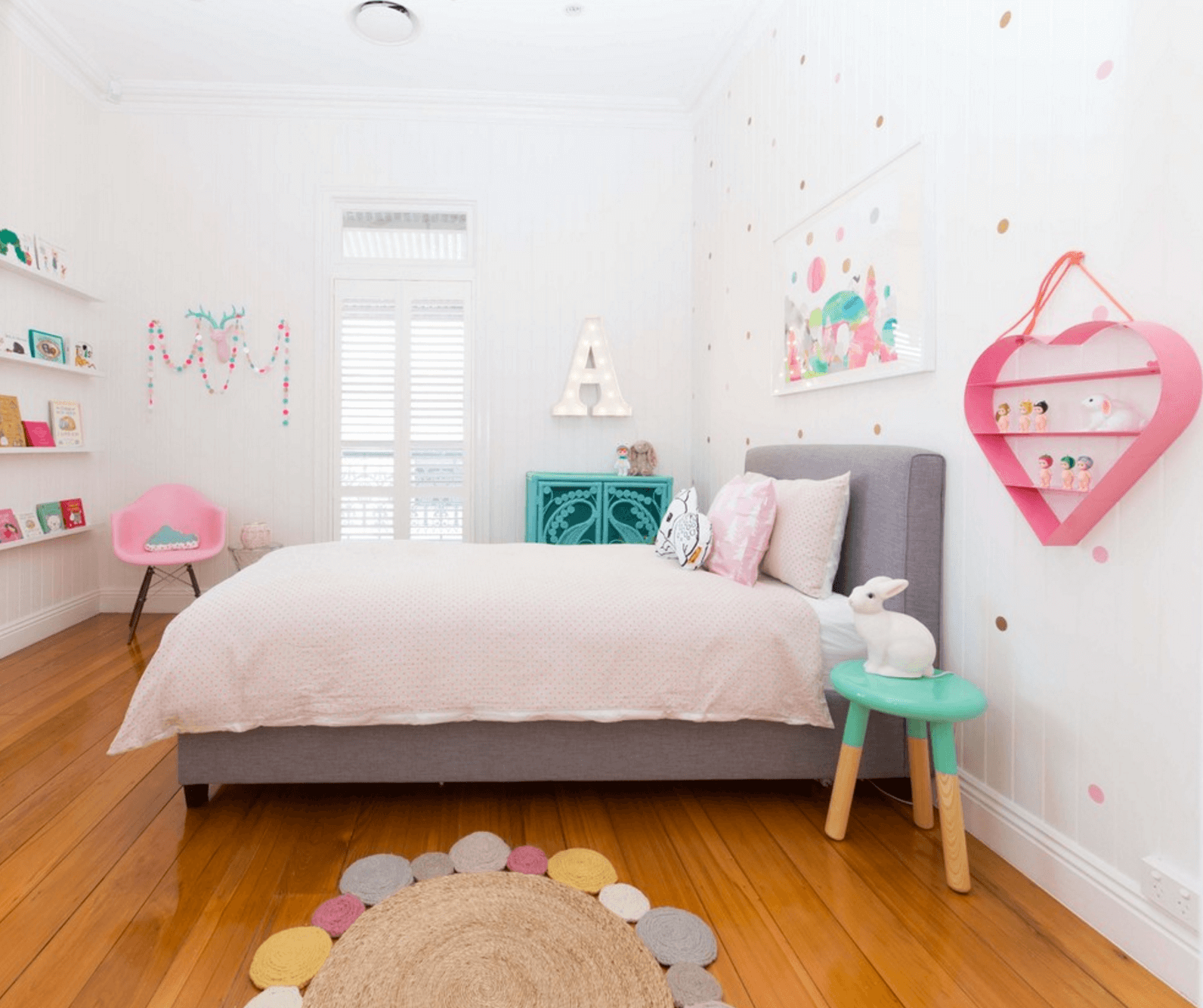 28 Ideas For Adding Color To A Kids Room Girls Bedroom Modern
