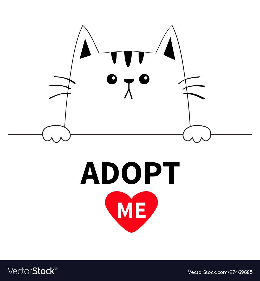 Cat Head Face Head Hands Paw Holding Line Adopt Vector Image Spon Hands Paw Face Cat Ad Vector Images Vector Free Vector