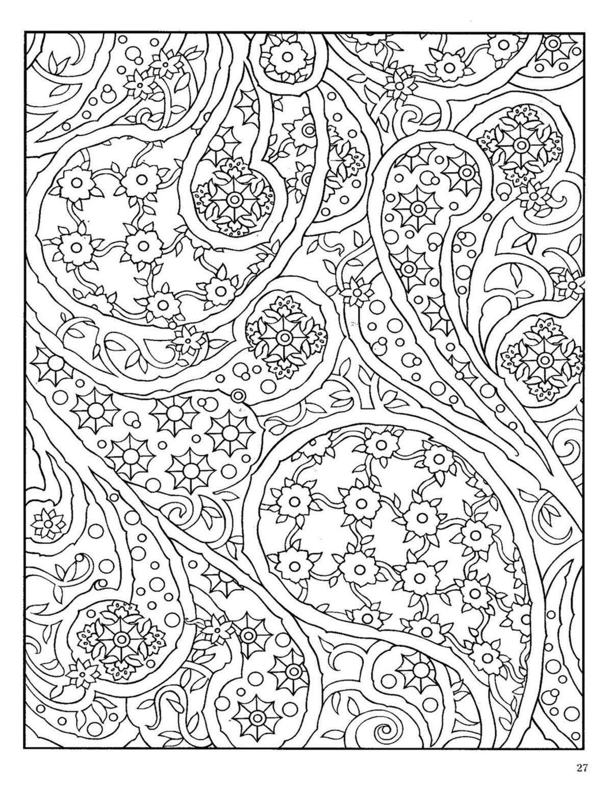 Dover Paisley Designs Coloring Book X