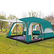 CAMEL 8 Persons Tent Triple Camping Three Rooms Family Tents Well Ventilated Waterproof Ultraviolet Resistant Anti Insect
