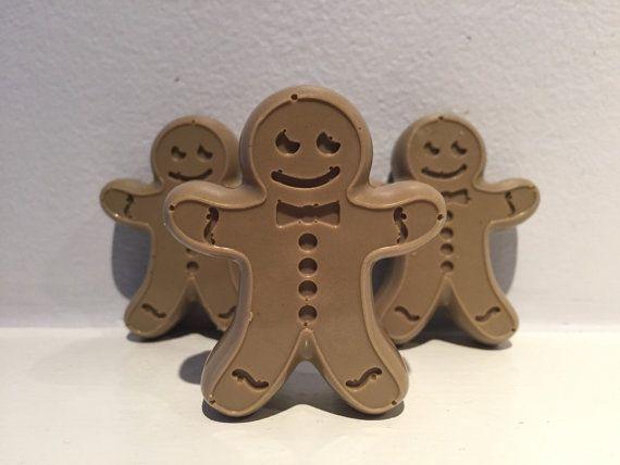 Gingerbread Men Soaps / Stocking Stuffer / by EmpatheticElephant