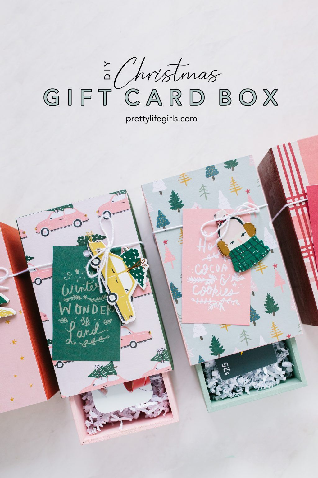 How To Make An Easy Diy Gift Card Box The Pretty Life Girls Christmas Gift Card Easy Diy Gifts Diy Gift Card
