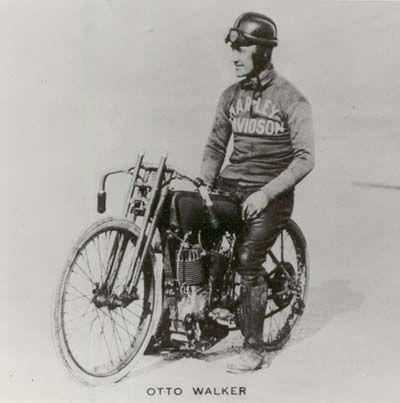 MOTORDOME: Racer Otto Walker. The Harley-Davidson 1912 team was led