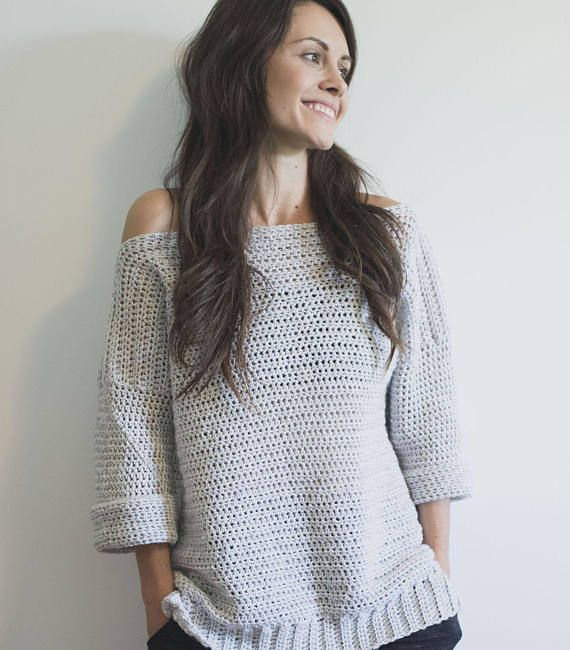 Free Crochet Pattern for The Homebody Sweater Pullover Comfy Top ...