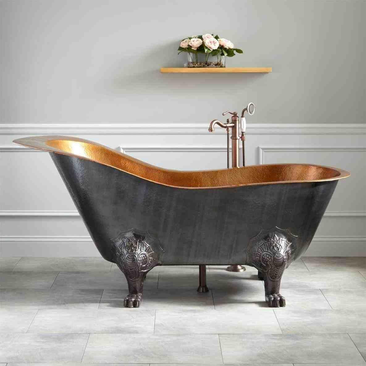 This vintage claw bathtub - bathroom, painting unique bathroom floor ...