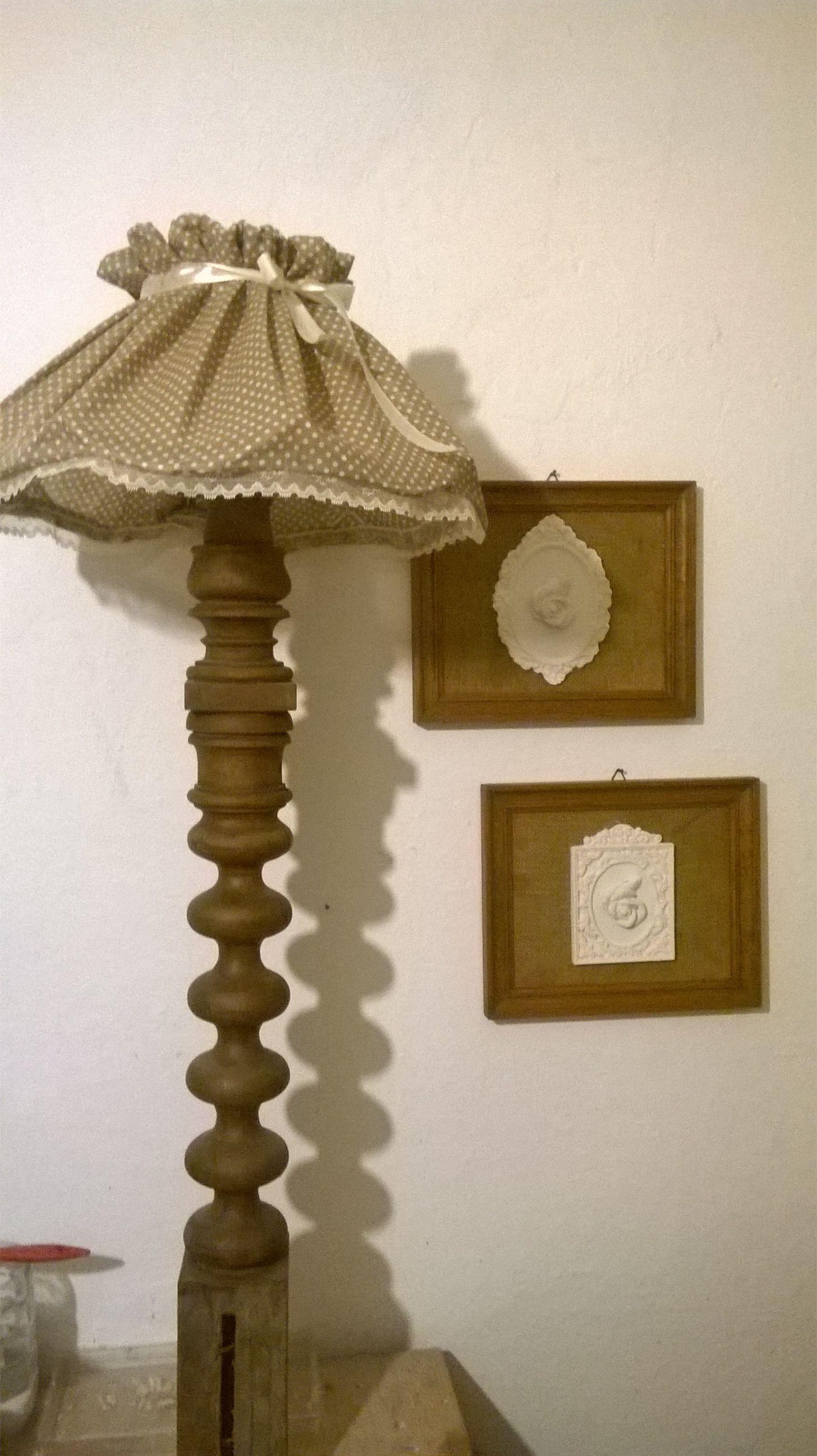 Lampada vintage con recupero creativo Shabby chic firmato M&M Art