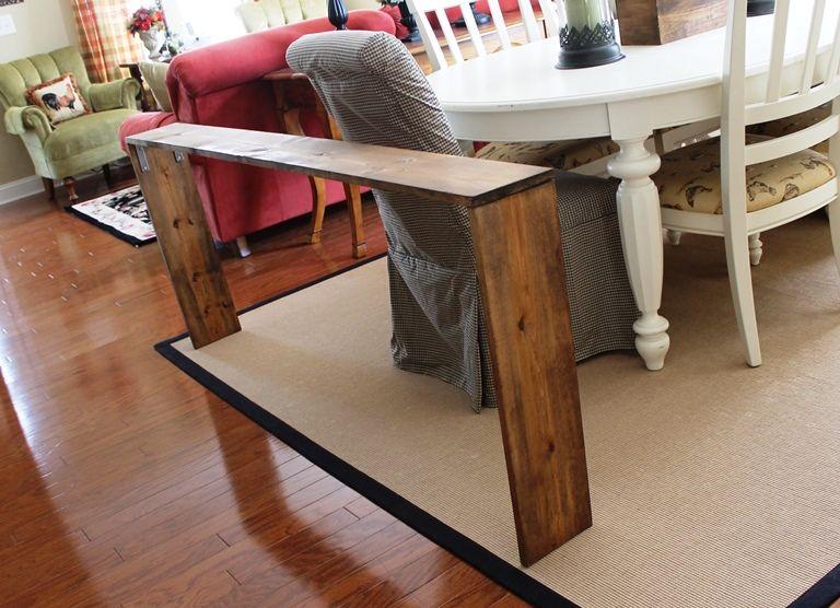 Easy Diy Sofa Table Couch Table Diy Diy Sofa Table Sofa Table
