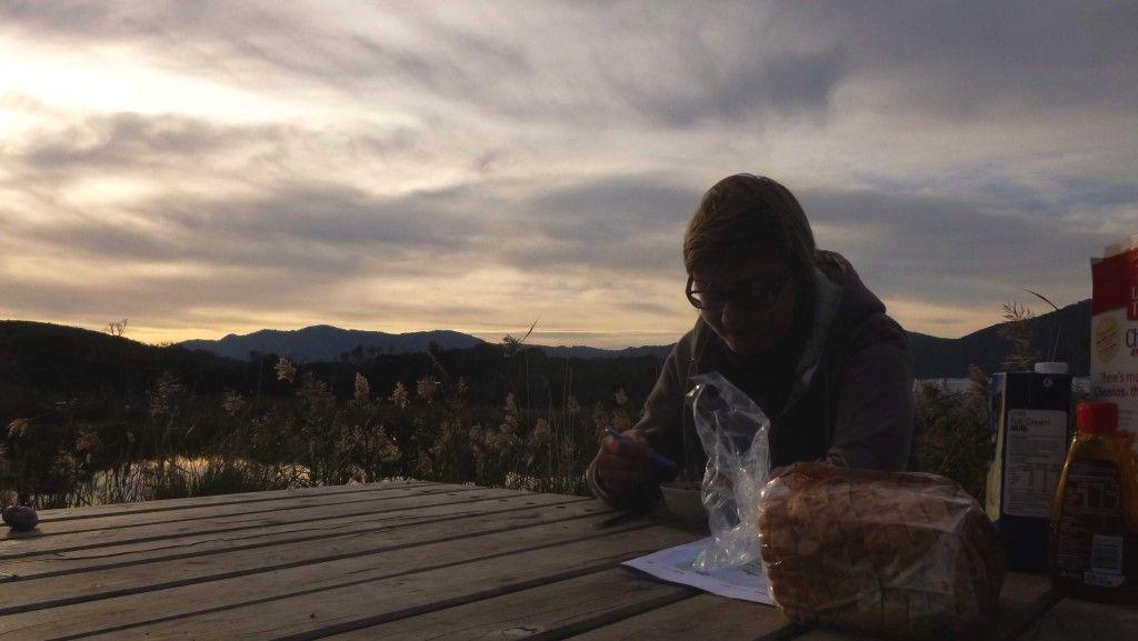 Déjeuner dans Wilson Promontory National Parc en Australie.... Aaaah la vie de bohème...