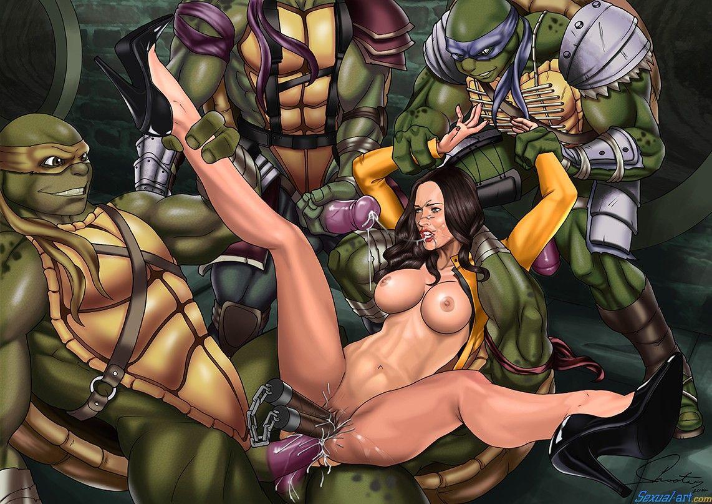 Porn april ninja mutant turtle