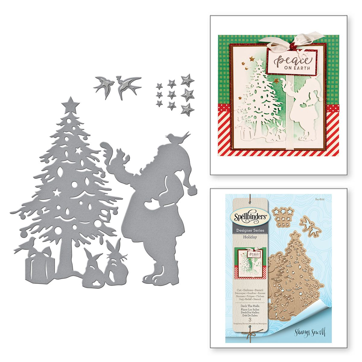 Spellbinders Shapeabilities Deck the Halls by Sharyn Sowell Etched//Wafer Thin