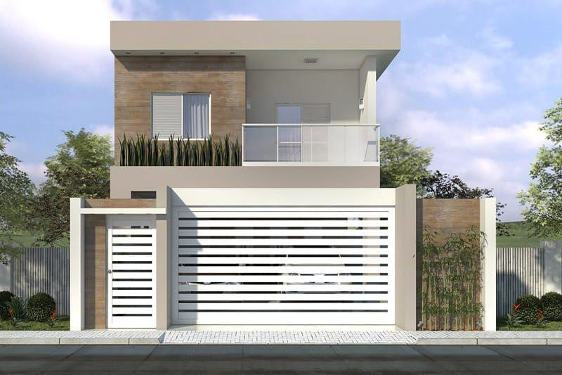 Esse um timo projeto de sobrado com 3 quartos a sala - Modelos de escaleras para casas pequenas ...