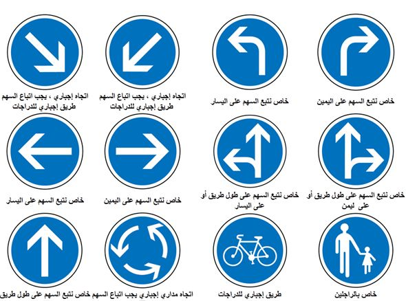 Isharat Seir إشارات السير Isharat Traffic Signs In Arabic Traffic Signs Driving Theory Medical Technology