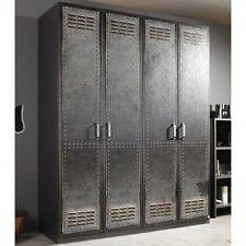kleiderschrank industrial optik schrank schlafzimmer dielenschrank flurschrank schr nki. Black Bedroom Furniture Sets. Home Design Ideas