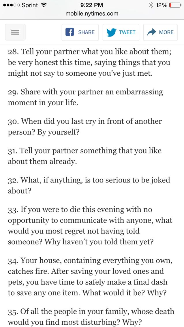 32 dating questions