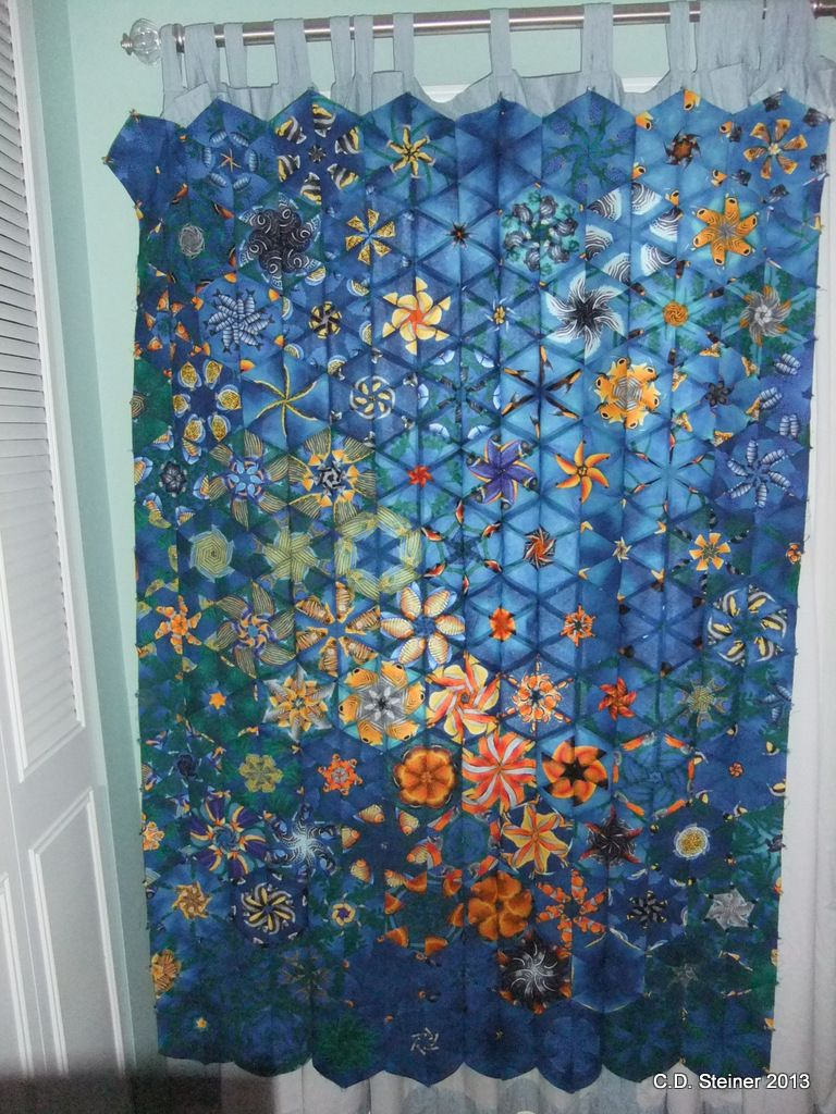One Block Wonder Quilt – Ready for the borders! | Kaleidoscope ... : one block quilt patterns - Adamdwight.com