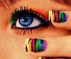 Rainbow gradiant, tape, and black!