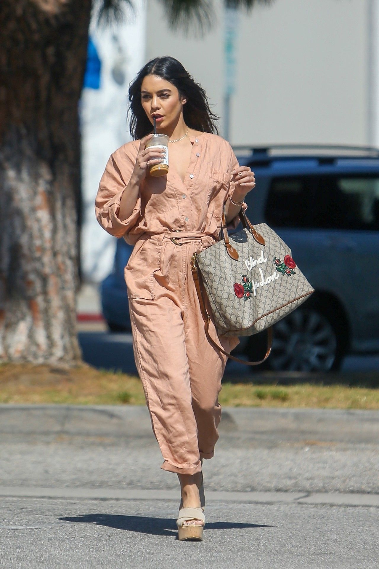 Vanessa Hudgens - Picking up coffee in Studio City - 03/24 ...