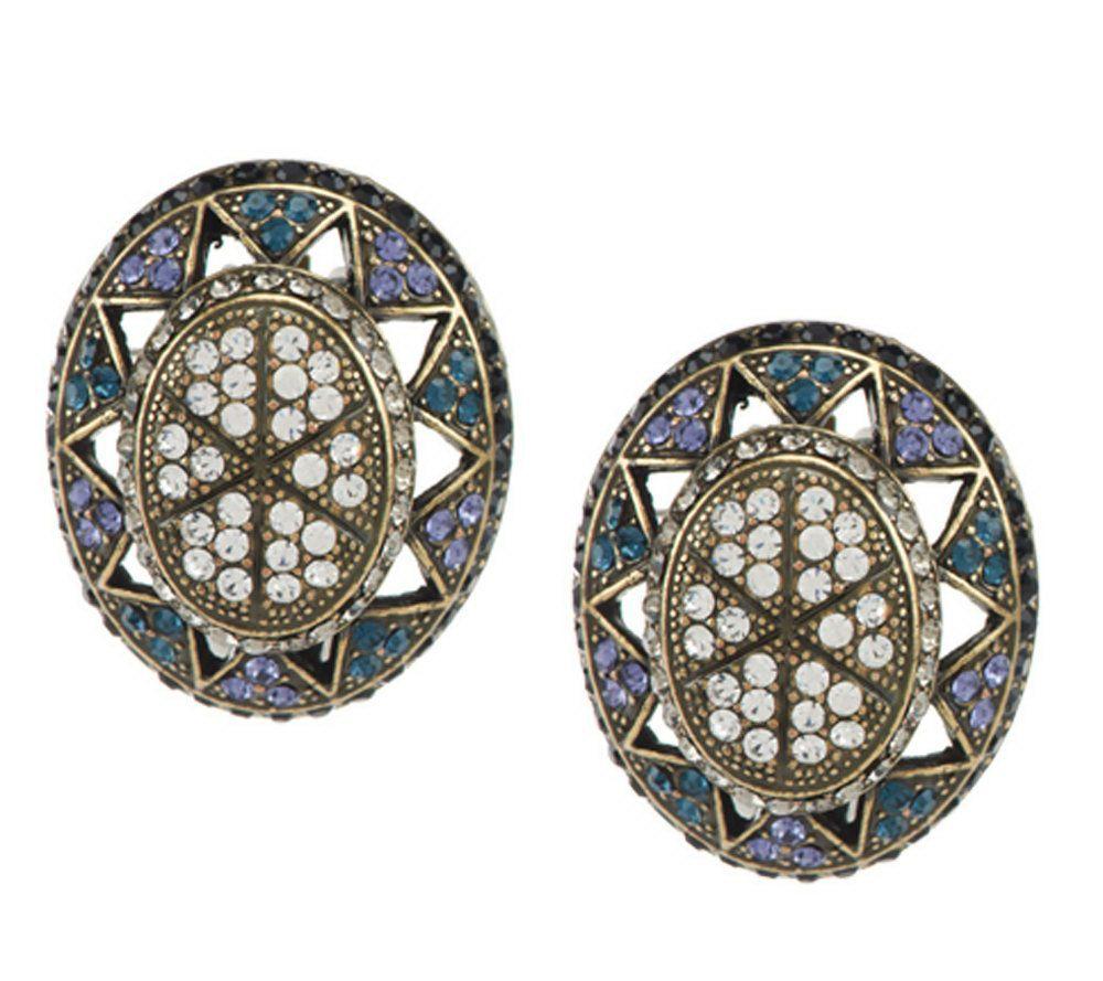 Joan Rivers Crystal Opulence Clip Earrings