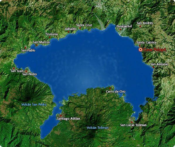 Another Map Of Atitlan Area Lake Atitlan Pinterest Lake Atitlan