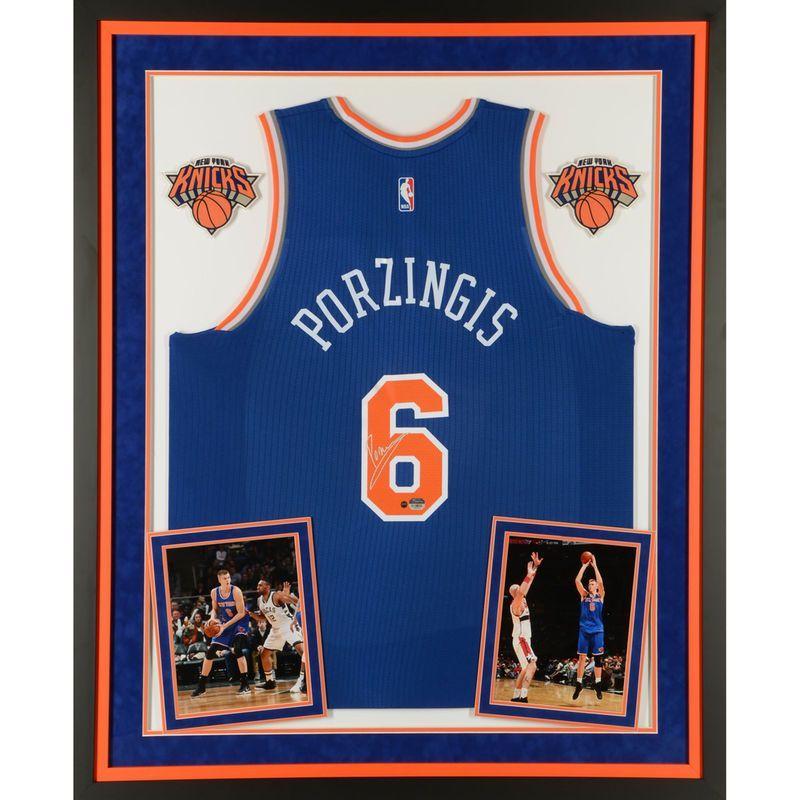 competitive price 3abf7 fa9fe Kristaps Porzingis New York Knicks Steiner Sports Deluxe ...