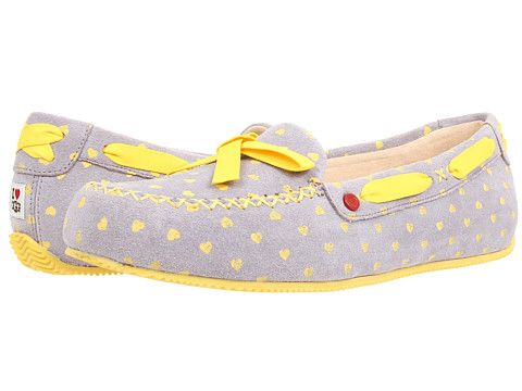 Womens Slippers UGG Belle Moonstone Hearts Suede