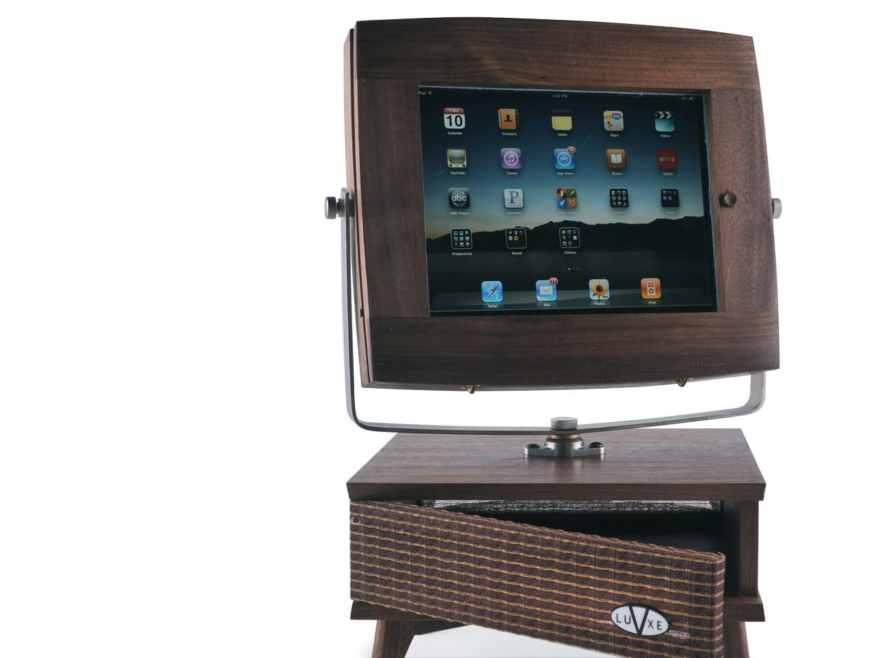The V-luxe Is A Hand-crafted IPad Accessory Stand That