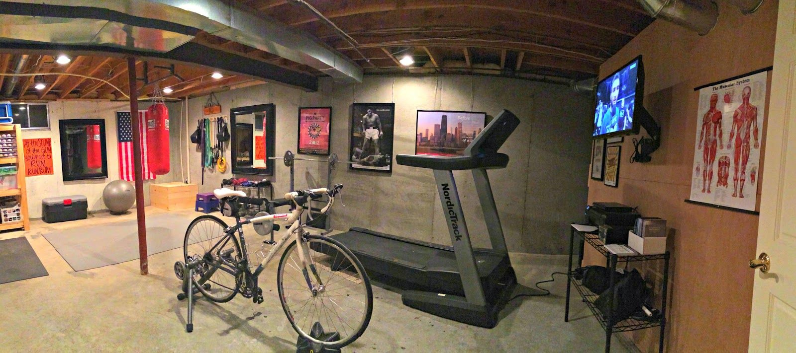 home gym ideas basement unfinished