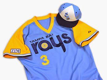 Tampa Bay Rays Retro Road Jersey 2014 Tampa Bay Rays Tampa Bay Tampa Bay Rays Baseball