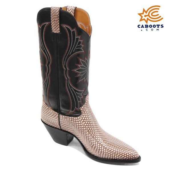 Los Altos Gold Genuine All-Over Cobra With Head 3X Toe Cowboy Boots 956444