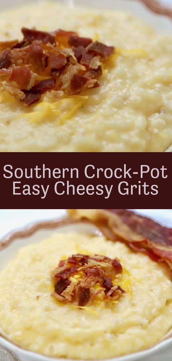 Southern Crock-Pot Easy Cheesy Grits #meltingpotrecipes