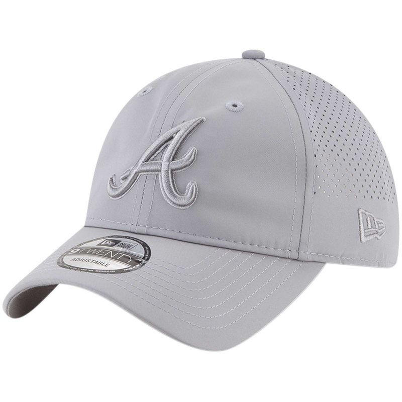 4288b70dcd14e Atlanta Braves New Era Perforated Tone 9TWENTY Adjustable Hat - Gray ...