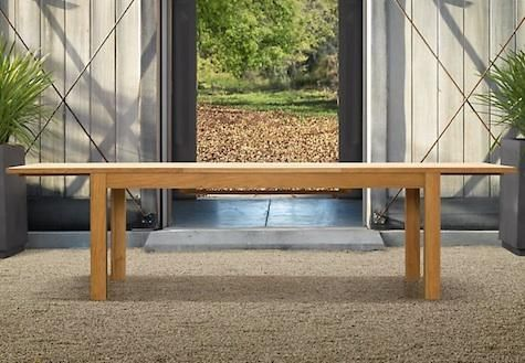 10 Easy Pieces Simple Wooden Outdoor Dining Tables Avec Images Massif