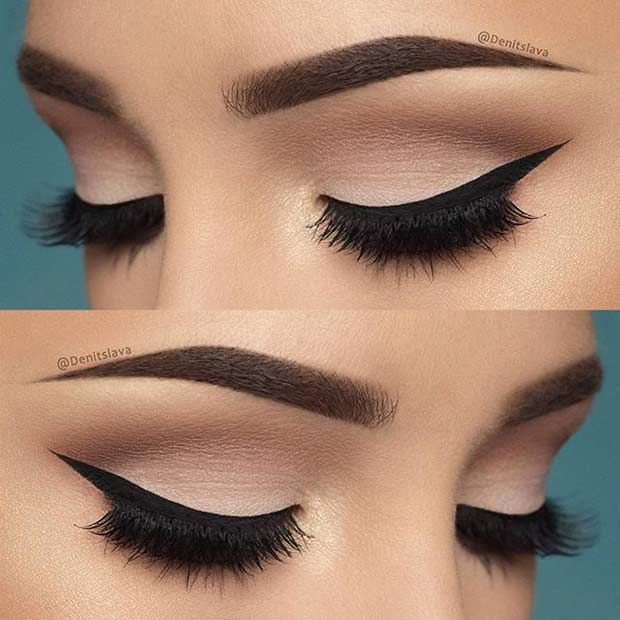 19 easy everyday makeup looks neutral eyeshadow winged liner and eyeshadow. Black Bedroom Furniture Sets. Home Design Ideas