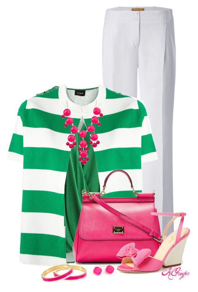"""Southern Summer Style"" by kginger ❤ liked on Polyvore featuring mode, Michael Kors, VILA, Stella Jean, Dolce&Gabbana en Kate Spade"